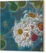 Pot Of Daisies 02 - S11bl01 Wood Print by Variance Collections