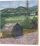 Potato Blossoms Wood Print by Paula Robertson