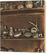 Pots And Things Wood Print by William Fields