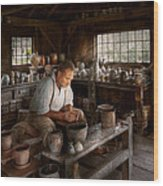 Potter - Raised In The Clay Wood Print by Mike Savad