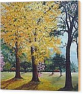 Poui Trees In The Savannah Wood Print by Karin  Dawn Kelshall- Best