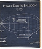 Power Driven Balloon Patent Wood Print by Aged Pixel
