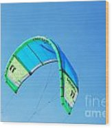 Power Kite Wood Print by DejaVu Designs