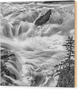 Power Stream Wood Print by Jon Glaser