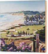 Powerhouse Beach Del Mar Lilac Wood Print by Mary Helmreich