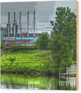 Powertrain Wood Print by MJ Olsen