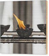 Prayer Lamps Wood Print by Patricia Hofmeester