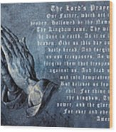 Praying Hands Lords Prayer Wood Print by Albrecht Durer