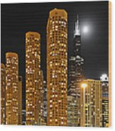 Presidential Towers Chicago Wood Print by Christine Till