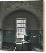 Prison Cell Wood Print by Jane Linders