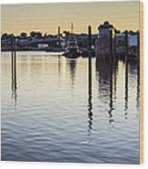 Providence Waterfront Wood Print by Andrew Pacheco