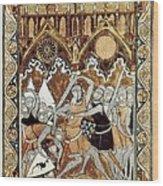 Psalter Of Saint Louis 13th C.. Abraham Wood Print by Everett