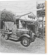 Puckett's Grocery And Restuarant Wood Print by Janet King
