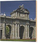 Puerta De Alcala Madrid Spain Wood Print by Susan Candelario