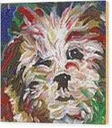 Puppy Spirit 101 Wood Print by Linda Mears