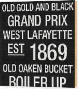 Purdue College Town Wall Art Wood Print by Replay Photos