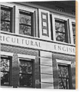 Purdue University Agricultural Engineering Wood Print by University Icons