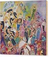 Purim Wood Print by Chana Helen Rosenberg