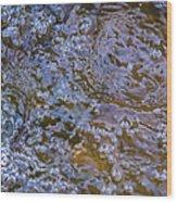 Purl Of A Brook Wood Print by Alexander Senin