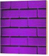 Purple Wall Wood Print by Semmick Photo