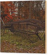 Purpose Served Wood Print by Jack Zulli