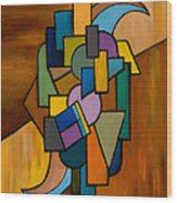 Puzzle IIi Wood Print by Larry Martin