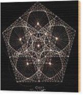 Quantum Star II Wood Print by Jason Padgett