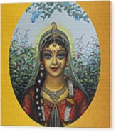 Radha Wood Print by Vrindavan Das
