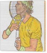 Rafael Nadal Wood Print by Steven White