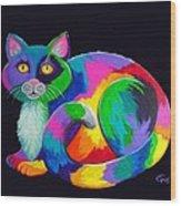 Rainbow Calico Wood Print by Nick Gustafson