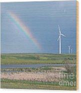Rainbow Delight Wood Print by Angela Pelfrey
