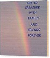 Rainbow Happiness Wood Print by Joseph Baril