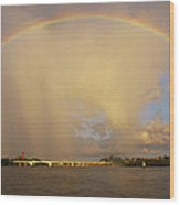 Rainbow Jupiter Inlet Wood Print by Bruce Bain