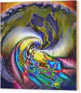 Rainbow Liberty V.5 Wood Print by Rebecca Phillips