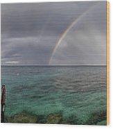 Rainbow Light Wood Print by Stelios Kleanthous