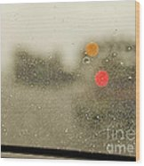 Rainy Day Perspective Wood Print by MaryJane Armstrong