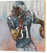 Randy Moss Wood Print by Michael  Pattison