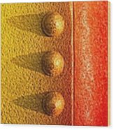 Raw Steel Wood Print by Tom Druin