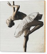 Reaching For Perfect Grace Wood Print by Richard Young
