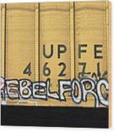 Rebel Force Wood Print by Donna Blackhall