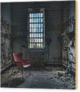 Red Chair - Art Deco Decay - Gary Heller Wood Print by Gary Heller