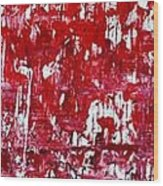 Red Grey White And Black Wood Print by Martina Niederhauser
