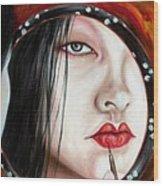Red Wood Print by Hiroko Sakai