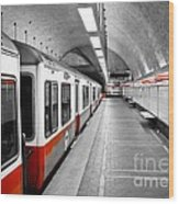 Red Line Wood Print by Charles Dobbs