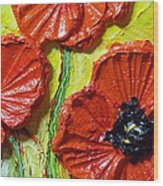 Red Poppies II Wood Print by Paris Wyatt Llanso