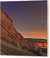 Red Rocks Amphitheatre At Night Wood Print by James O Thompson