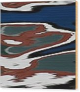 Red White And Blue Vi Wood Print by Heidi Piccerelli