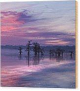 Reelfoot Lake Sunrise Wood Print by J Larry Walker