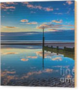 Reflections Wood Print by Adrian Evans