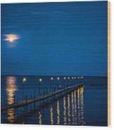 Reflections On Milacs Wood Print by Paul Freidlund